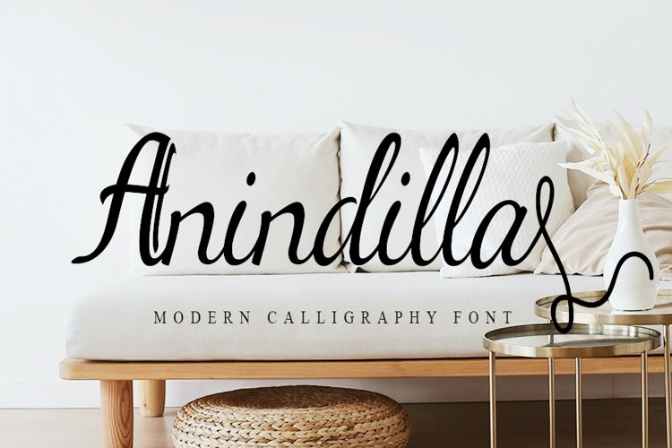 Anindilla - Modern Calligraphy Font example image 1