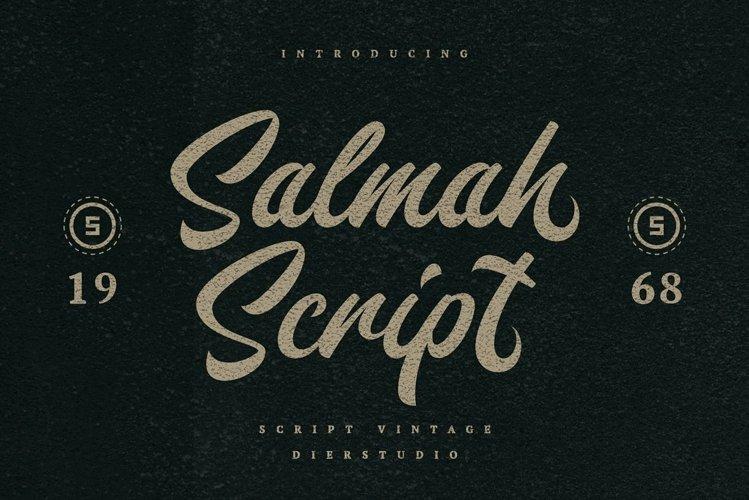 Salmah Script example image 1