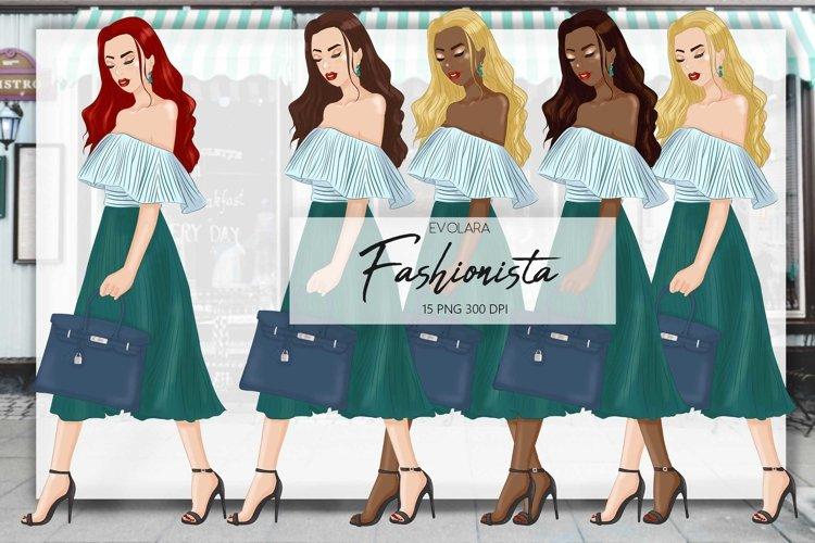 Fashion girl clipart girl boss clipart fashion illustrations