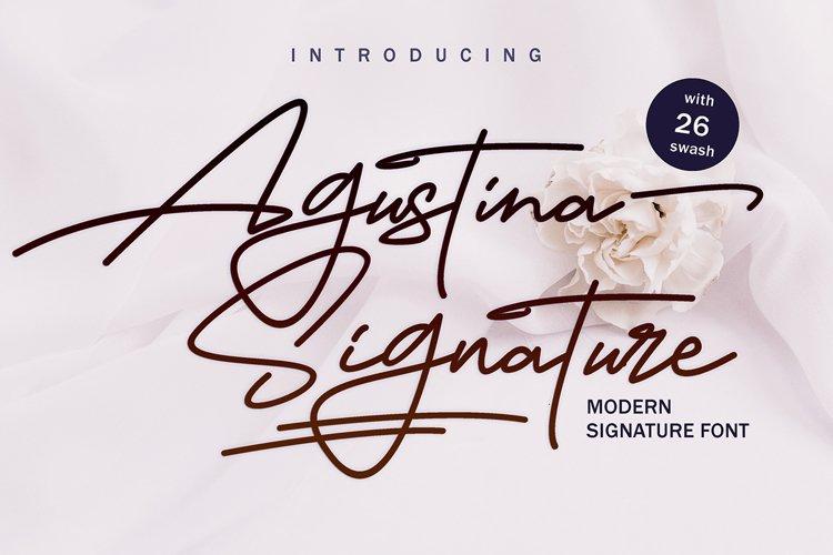 Agustina Signature example image 1