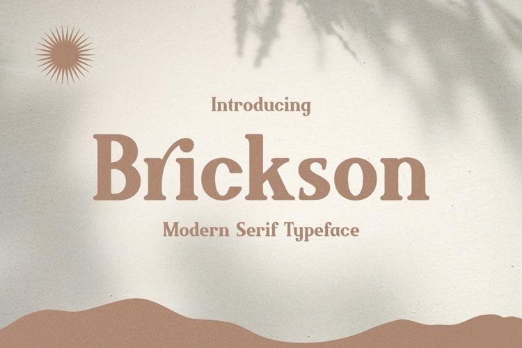 Brickson - Elegant Modern Serif example image 1