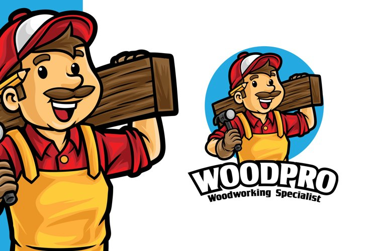 Carpentry Wood Working Logo Template example image 1
