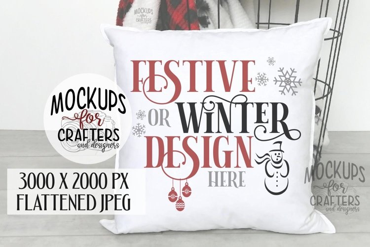 PILLOW COVER, CUSHION COVER, Christmas, Winter, Festive