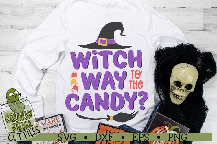 Witch Way to the Candy Halloween SVG Cut File