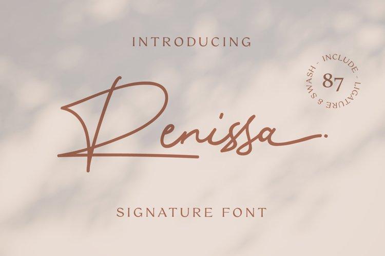 Renissa Signature Font example image 1