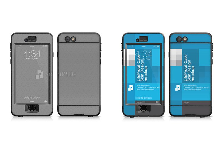 Apple iPhone 6s LifeProof NUUD Case Skin Design Template 2015 example image 1