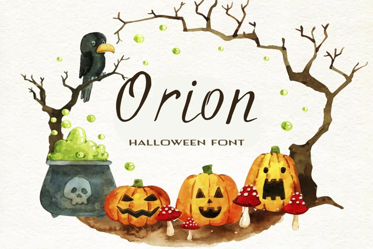 Orion Halloween Font example image 1