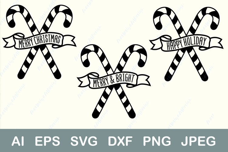Merry christmas svg, Happy holiday svg, Merry and bright svg example image 1