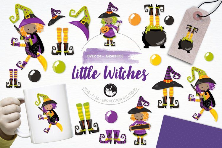 Little Witches graphics and illustrations example image 1