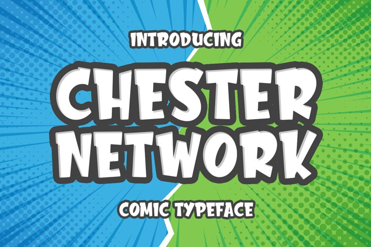 Chester Network -comic font- example image 1