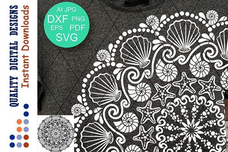 Mandala Seashells clipart SVG files for Cricut