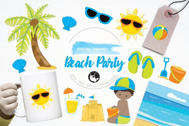Beach Party  graphics and illustrations example image 1
