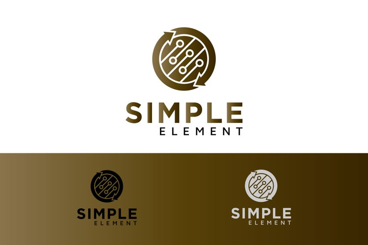Simple Element Logo with a Circle Graphic example image 1