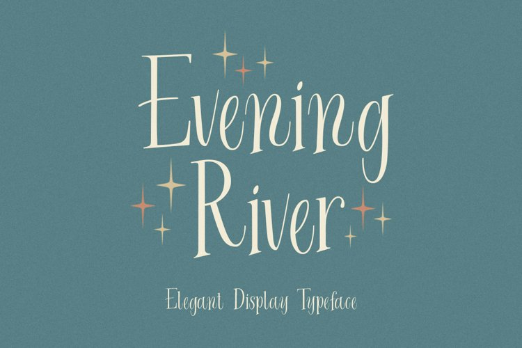 Evening River - Elegant Display Typeface example image 1