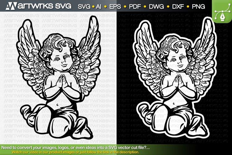 Angel SVG catholic clipart | Christian SVG by Artworks SVG