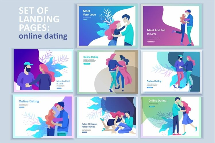 Dating. Landing page & characters