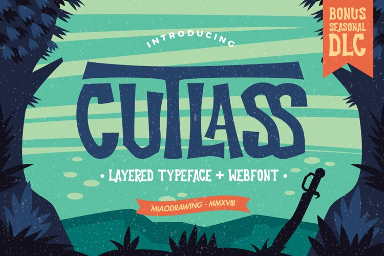 Cutlass Typeface example image 1