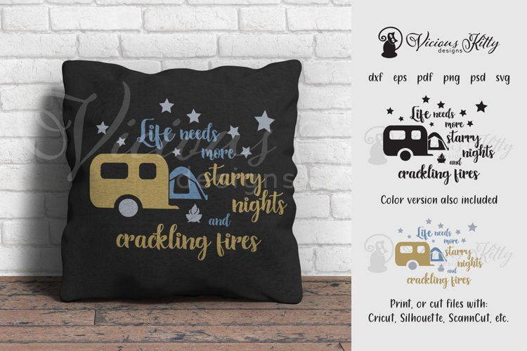 Camping design, starry nights and crackling fires example image 1