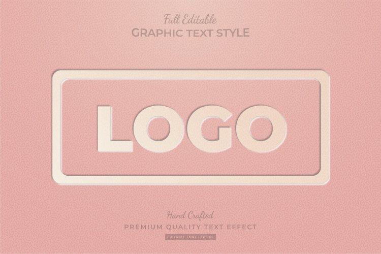 Embossed Vintage Logo Editable Custom Text Style Effect example image 1