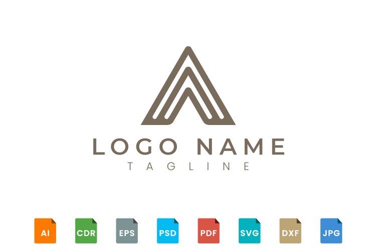 Triangle shape logo design example image 1