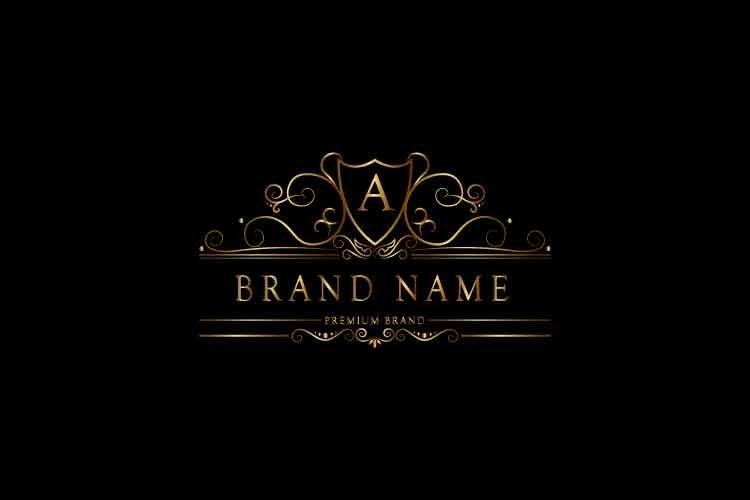 Monogram logo letter A premium luxury gold. Vector in Eps10.