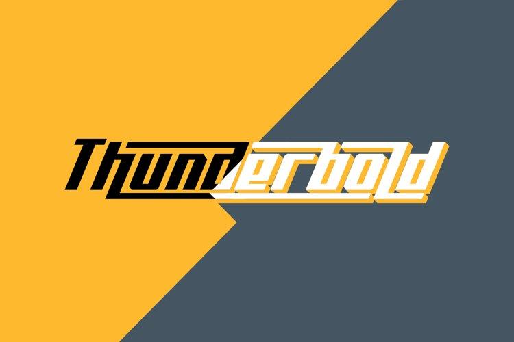 Thunderbold // Web Font example image 1