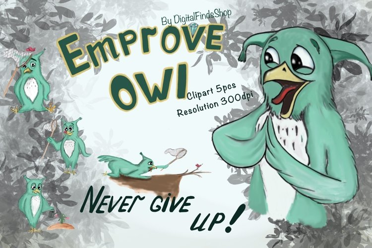 Owl clipart, sublimation fun clipart, animals clipart, humor