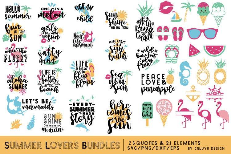 Summer Lovers SVG Cut File Bundle example image 1