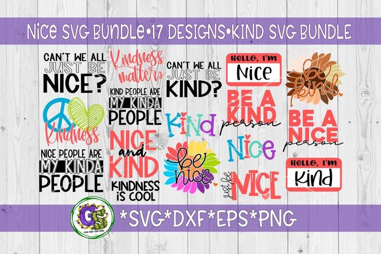 Be Nice Bundle SVG DXF EPS PNG | Be Kind Bundle