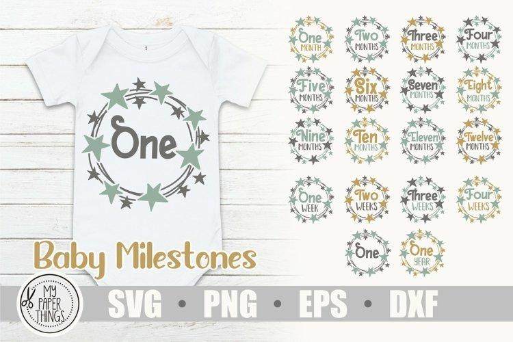 Baby Milestones svg bundle