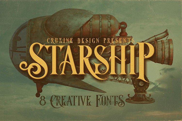Starship Typeface example image 1