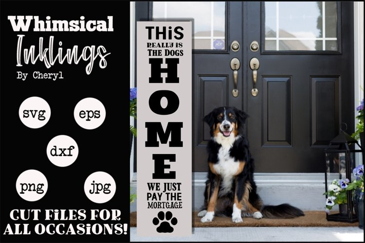 Dogs Home Vertical SVG example image 1