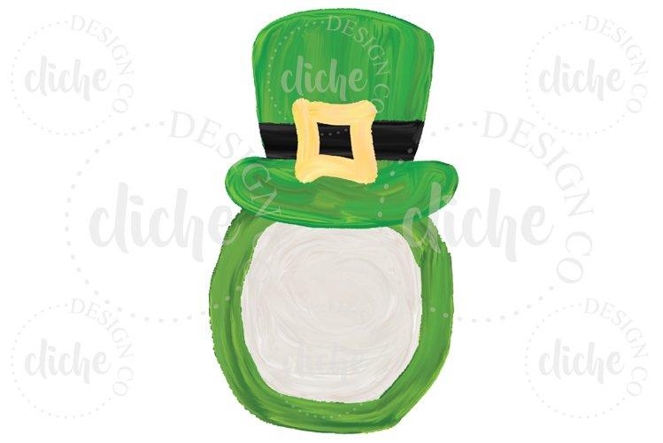 St Patricks Day Monogram Sublimation Design