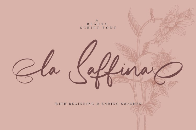 La Saffina - A Beauty Script Font example image 1