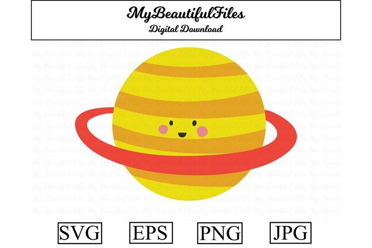 saturn SVG - Cute saturn SVG, EPS, PNG and JPG