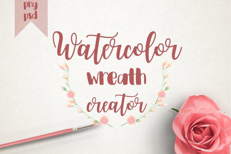 WATERCOLOR WREATH CREATOR  example image 1