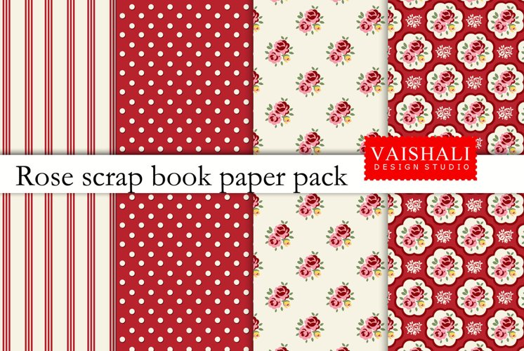 SHABBY CHIC, 4 coordinated prints, seamless pattern example image 1