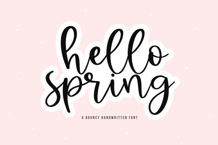 Hello Spring - A Bouncy Handwritten Script Font example image 1