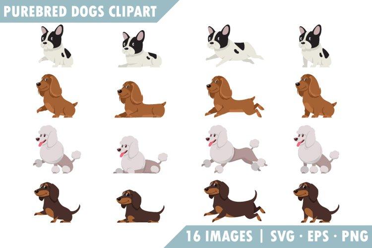 Purebred dogs Clipart set. Vol 2.