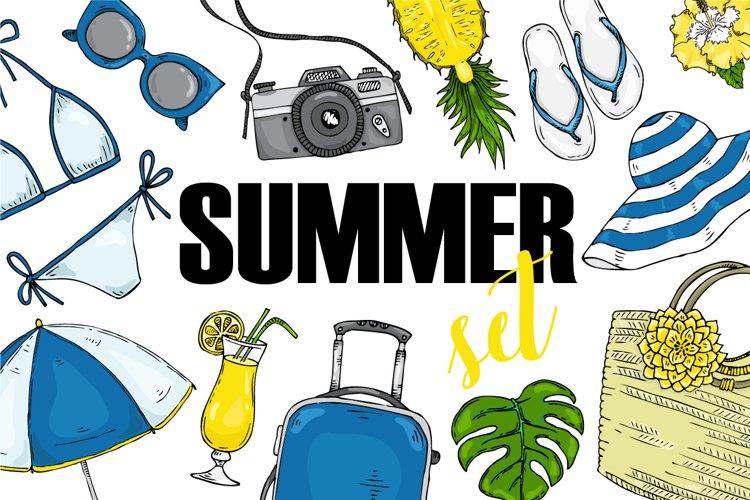 Fashion vector summer set example image 1