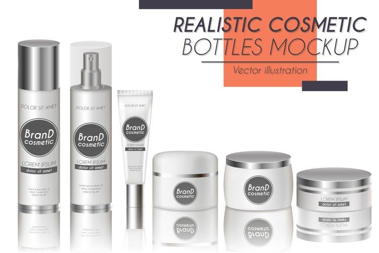 Vector realistic bottles set collection mockup pt.2