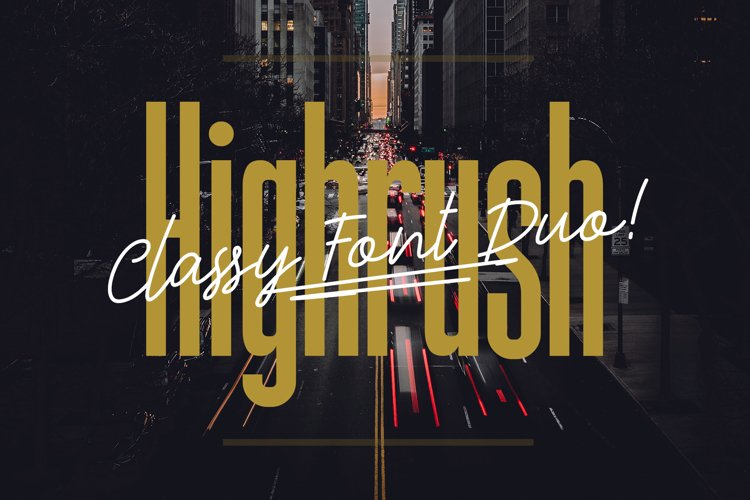 Highrush Font Duo example image 1