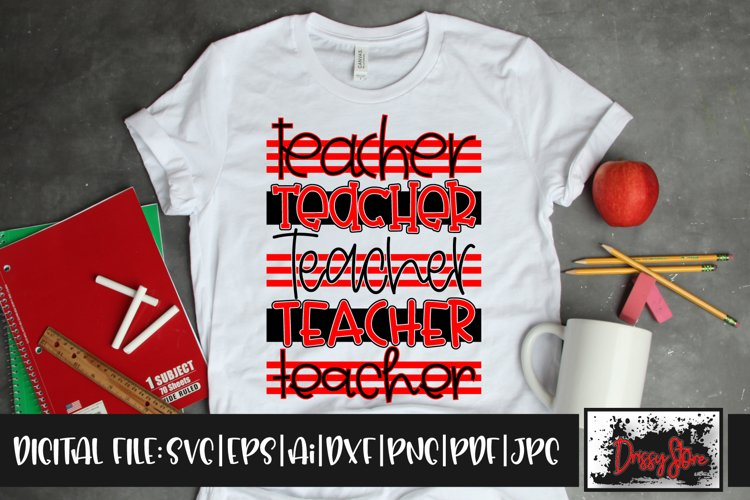 Teacher SVG DXF Ai EPS PDF PNG JPG example image 1