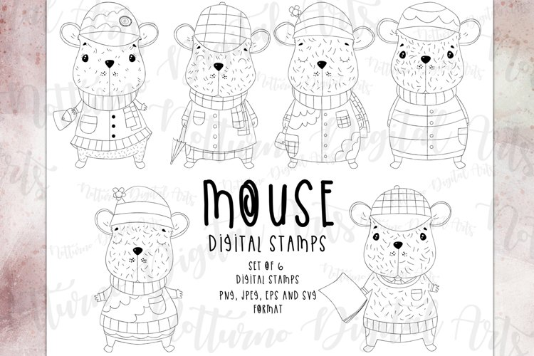 Mouse clipart svg, eps, png and jpeg format. Set of 8 svg