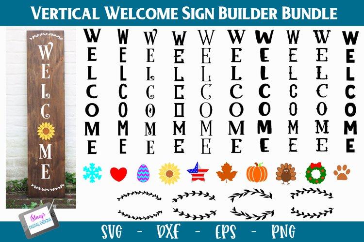Vertical Welcome Sign Bundle - Porch Signs Bundle