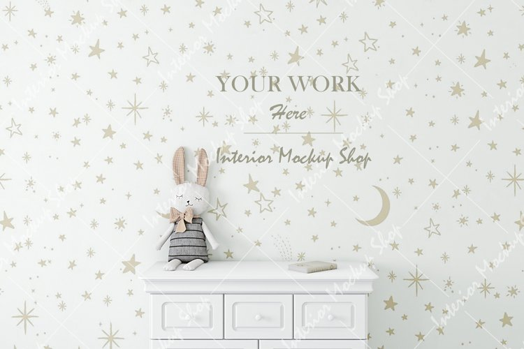 Frame mockup, Poster Mockup, Mockup in interior example image 1