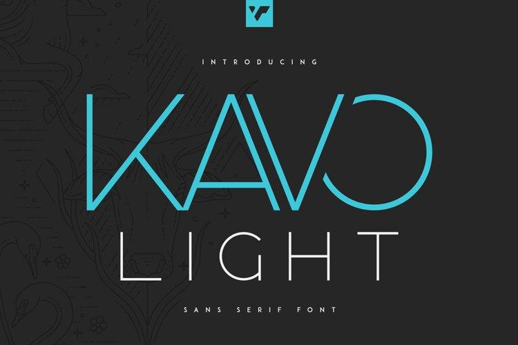 Kavo Sans Serif Light example image 1