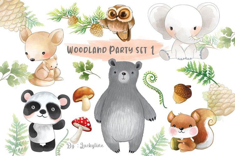 Woodland party clipart set 1