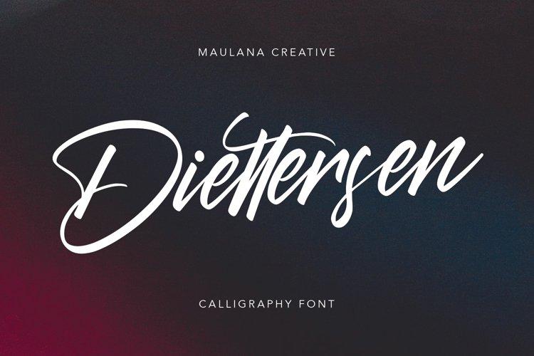 Diettersen Script Calligraphy Font example image 1