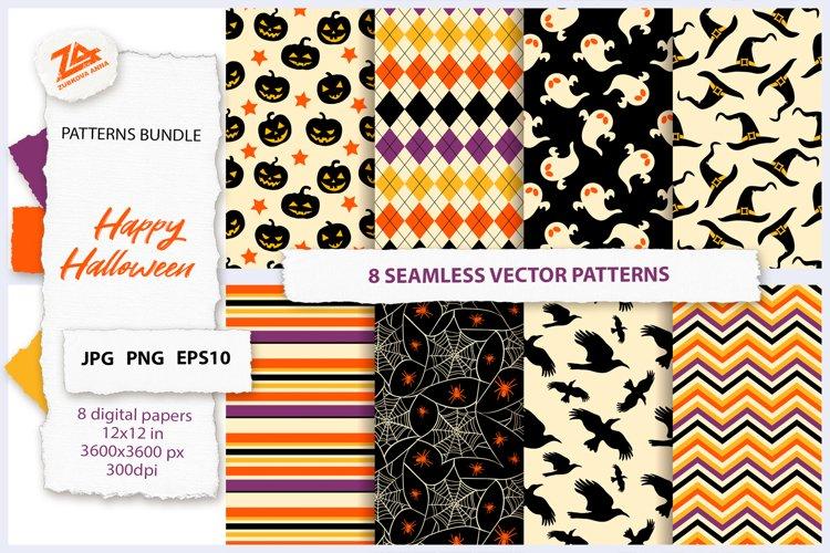 Happy Halloween Seamless Patterns Bundle JPG, PNG, EPS10 example image 1